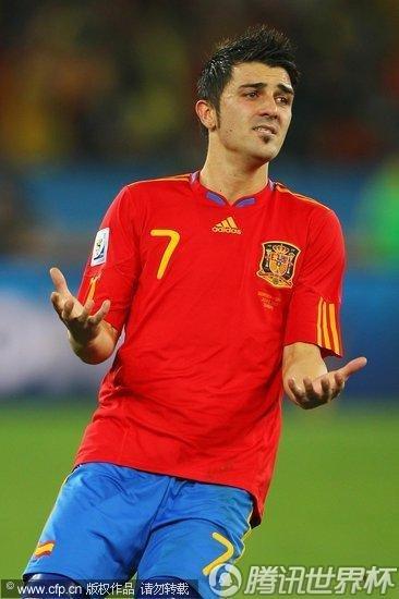 图文:德国VS西班牙 锋线尖刀比利亚_2010南非世界杯