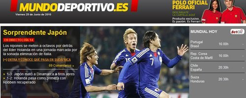 世界体育报:令人惊讶的日本 丹麦打法不实用