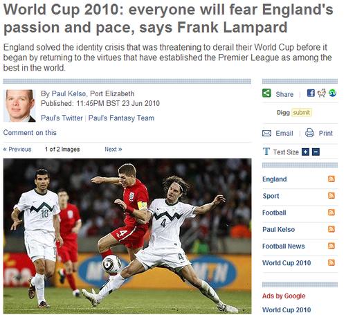 兰帕德:英格兰的热情速度无人能及 无惧德国