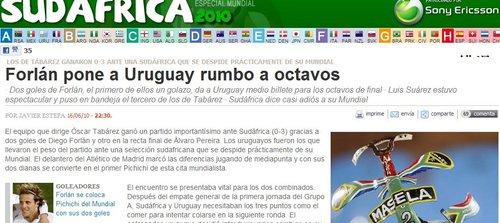马卡报:乌拉圭占据A组主动 南非正在说拜拜