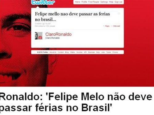 罗纳尔多怒斥巴西罪人:梅洛,别回巴西了!