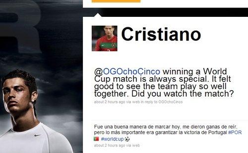 C罗微博自曝进球后偷笑 7-0后下一目标灭巴西