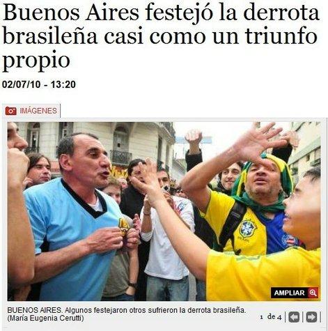 阿根廷球迷为巴西出局狂欢 06年曾被对方羞辱