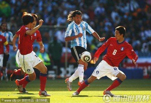 2010世界杯小组赛B组次轮:阿根廷Vs韩国