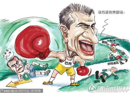 漫画:巴西3-0晋级战荷兰 夺冠之路异常顺利
