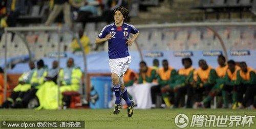 2010世界杯小组赛E组首轮:日本1-0喀麦隆
