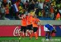 荷兰队员庆祝