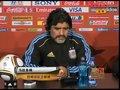 视频:马拉多纳新貌接受采访 不担心球队状态