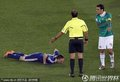 图文:墨西哥2-0法国 里贝里被放倒