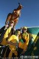 图文:加纳1-1澳大利亚 澳洲球迷一家亲