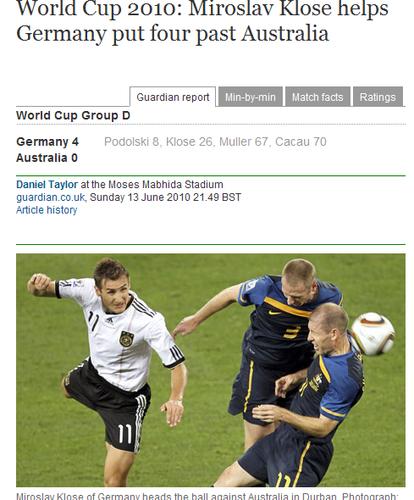 卫报:德国队华丽表演 还有谁会思念巴拉克?