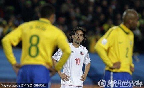 2010世界杯1/8决赛:巴西3-0智利