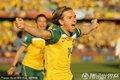 图文:加纳1-1澳大利亚 霍尔曼庆祝进球