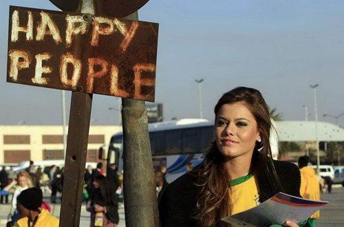 巴西世界小姐认为梅西最帅 希望巴西走到最后
