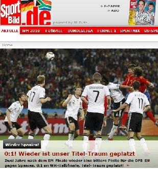图片报:德国冠军梦再度破灭 失利因缺乏自信