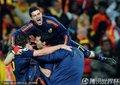 西班牙队员庆祝