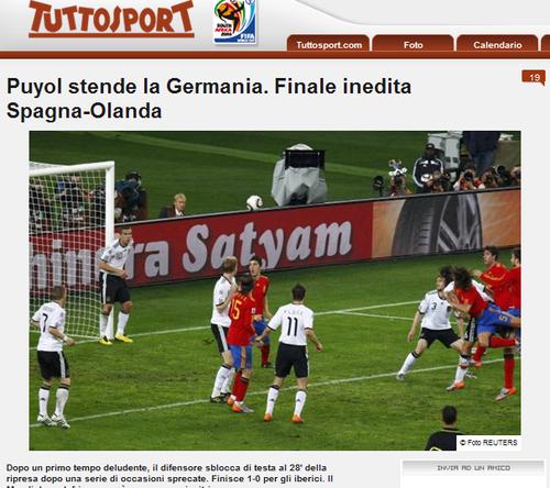 都灵体育报:西班牙完美 他们将终结不败荷兰
