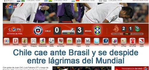 智媒:泪别世界杯 但智利足球掀开了新的一面