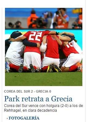 国家报:出色朴智星锦上添花助韩国2-0胜希腊