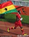 加纳球员绕场庆祝