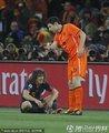 图文:荷兰0-1西班牙 双方球员开玩笑