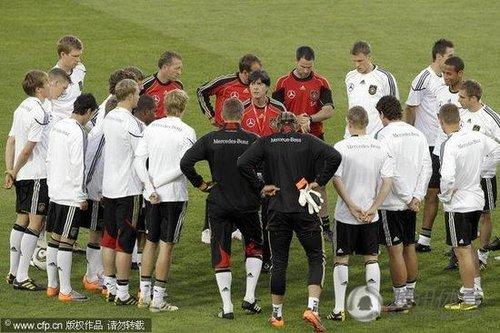 德国队训练备战