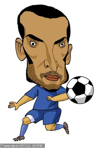漫画:世界杯球星脸谱 赞布罗塔