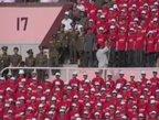 视频:朝鲜队超级主场探秘 万人排方阵唱国歌