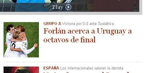 世界报:乌拉圭预定16强席位 3前锋拖垮南非