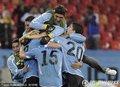 乌拉圭队员集体庆祝