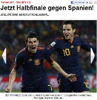 图片报:勒夫,我们能赢西班牙 后防是其软肋