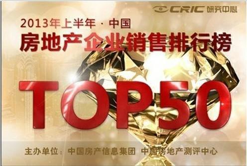 碧桂园:荣登2013上半年中国房地产销售排行榜