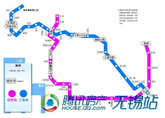 无锡地铁3、4号线规划图-地铁3号线初探系列 21 黄山路站勘探惠及2盘图片