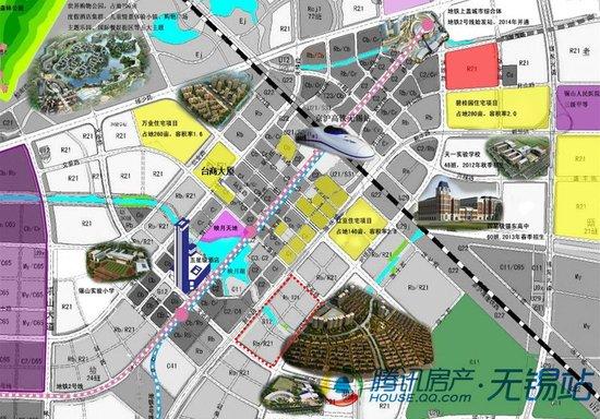 锡东新城规划图-名企区域总部商务楼开建 助力锡东新城崛起