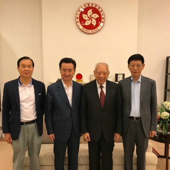 万达董事长王健林现身香港,拜会前特首董建华