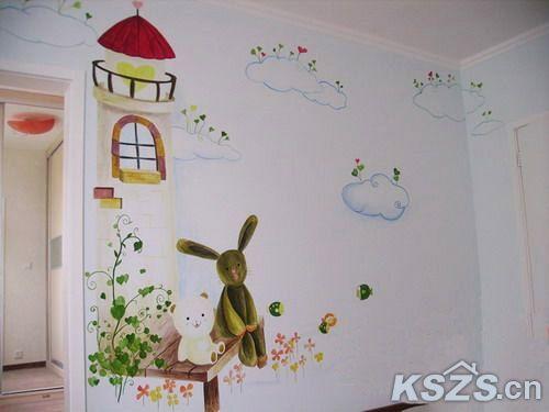 手绘墙-给孩子一个想象的空间