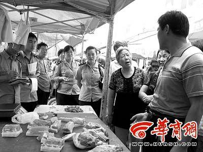 """铜川注水肉调查 商户明目张胆卖""""水肉""""(图)"""