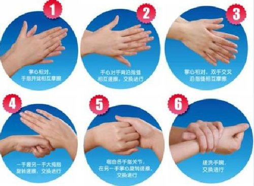 步骤的时候一般要持续6秒钟(边洗边数数,从1数到5就够了),整个洗手