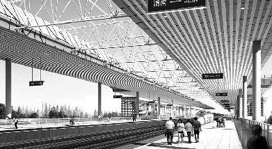 国内首座高架桥客运火车站在渭南建成(图)