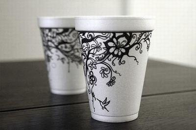 艺术手绘咖啡杯