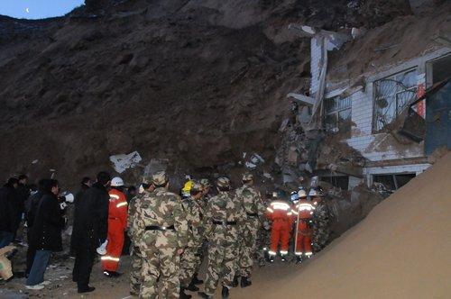 子洲发生滑坡事故 3人死亡约20人失踪(组图)