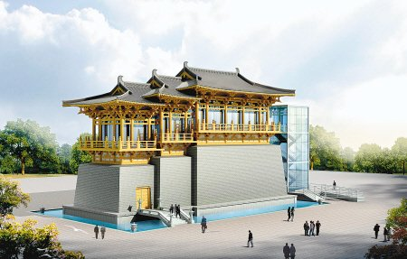 """陕西馆被誉为""""最具特色"""" 展馆 31日竣工"""