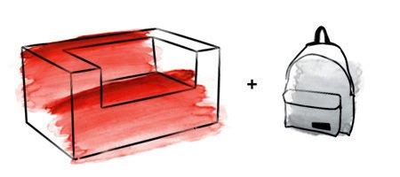 旅行背包版创意储物沙发