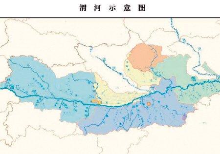 渭河流域陕西段示意图