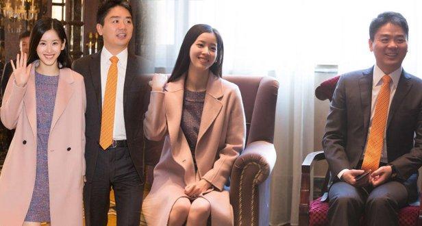 章泽天刘强东一同出席活动,全程都是大写的甜