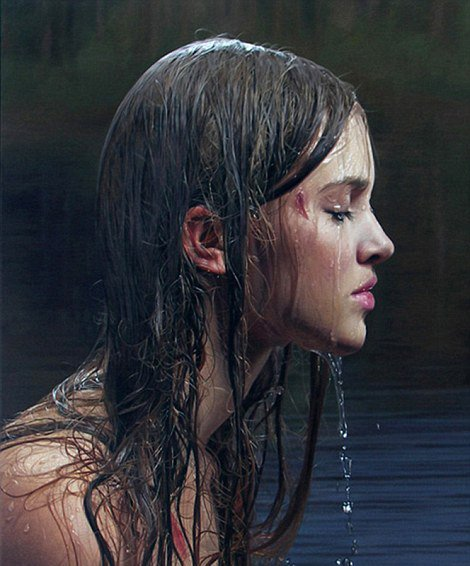 德超写实艺术家用油画重塑照片