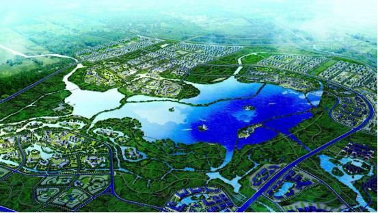 |昆明池规划图|-沣东规划展览馆 展沣东新城大未来之序厅