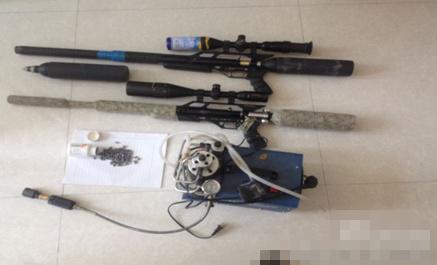 榆林警方持枪打猎被查图纸查获男子两支气枪铅弹别墅和间效果图4图片