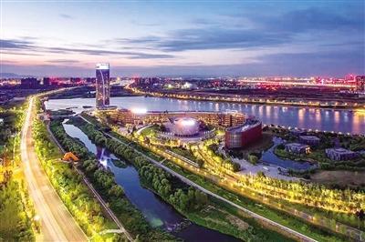 西安浐灞生态区规划图