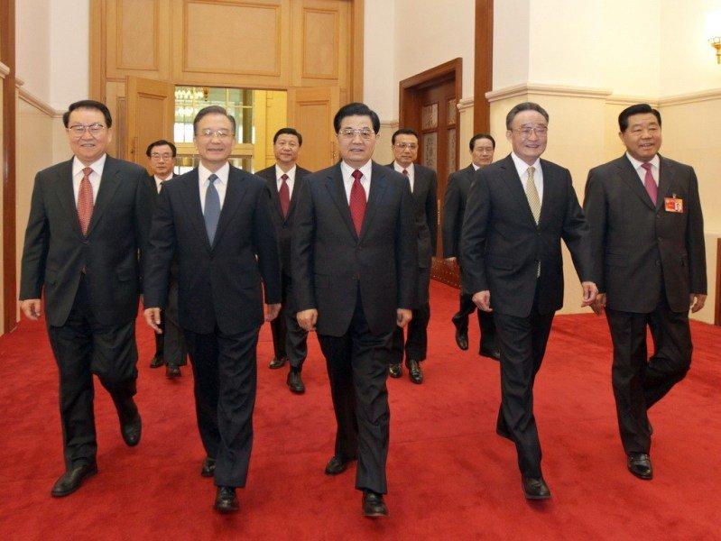 历年两会领导人入场照片图片